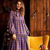 Одежда handmade. Livemaster - original item Purple Mary oversize dress