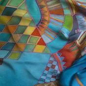 """Аксессуары ручной работы. Ярмарка Мастеров - ручная работа шелковый шарф,  ручная роспись, натуральный шелк, """"Город"""". Handmade."""