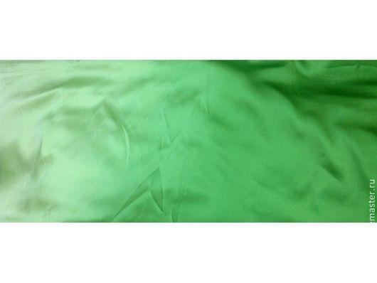 Шитье ручной работы. Ярмарка Мастеров - ручная работа. Купить Шелк деградэ зеленый. Handmade. Мятный, шелк натуральный