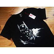 """Одежда handmade. Livemaster - original item Футболка с ручной росписью """"Бэтмен"""". Handmade."""