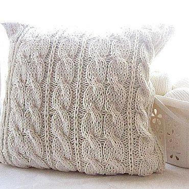 Textiles handmade. Livemaster - original item Pillow case (Cover) for cushion ecru. Handmade.