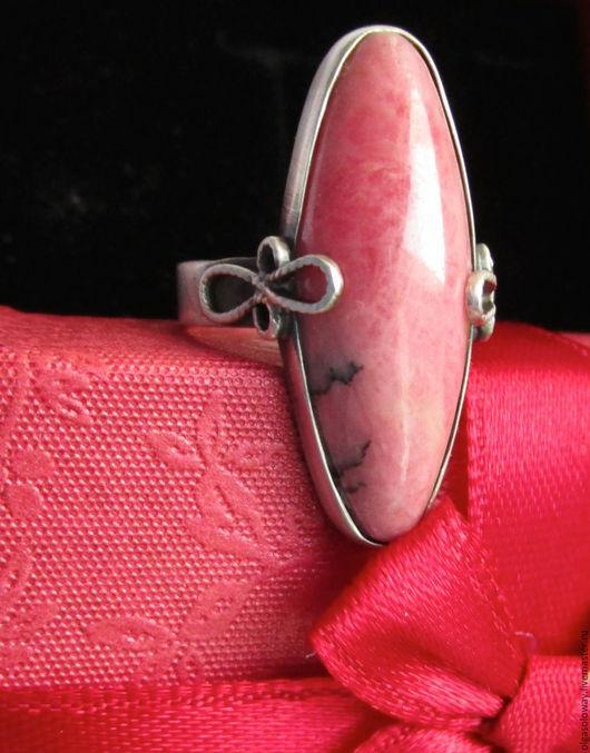 Кольца ручной работы. Ярмарка Мастеров - ручная работа. Купить Серебряное кольцо с родонитом. Handmade. Розовый, матирование