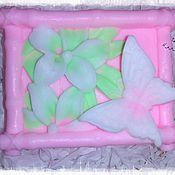 Косметика ручной работы. Ярмарка Мастеров - ручная работа Мыло ручной работы «Бабочка на цветке». Handmade.