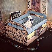 Для дома и интерьера ручной работы. Ярмарка Мастеров - ручная работа Ящичек в порхающих бабочках, декупаж. Handmade.
