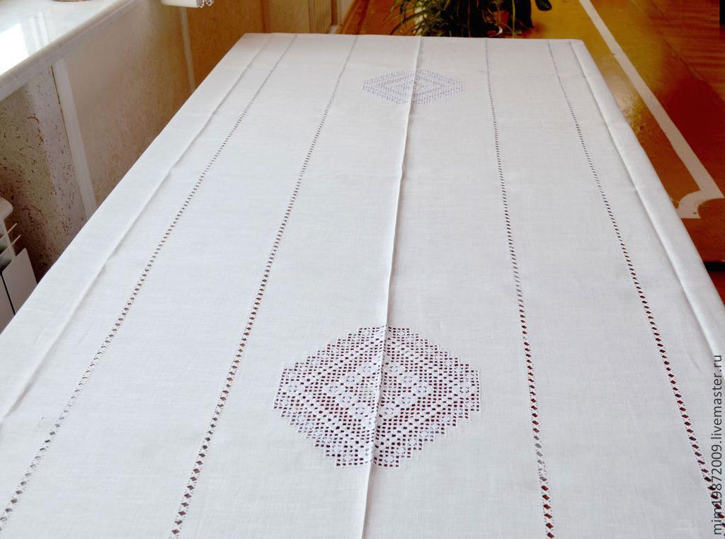 Вышивка иглой на ткани