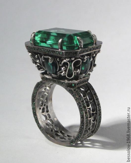 Кольца ручной работы. Ярмарка Мастеров - ручная работа. Купить Перстень со 180 камнями. Handmade. Перстень с камнем, машков