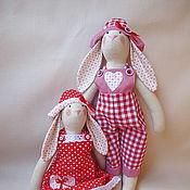 Куклы и игрушки ручной работы. Ярмарка Мастеров - ручная работа Тильда зайки. Handmade.