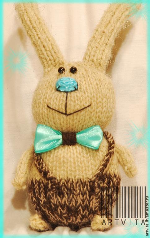 Игрушки животные, ручной работы. Ярмарка Мастеров - ручная работа. Купить Вязаные зайцы, коты, игрушки. Handmade.