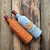 """Подарки к праздникам handmade. Livemaster - original item Knitted bottle sweaters """"Scandinavia"""". 2 pieces. Set.. Handmade."""