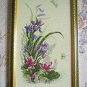 """Картины и панно ручной работы. Ярмарка Мастеров - ручная работа Вышитая картина  """" Полевые цветы"""". Handmade."""