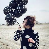 Одежда ручной работы. Ярмарка Мастеров - ручная работа Вязаный ангоровый свитер в горошек. Handmade.