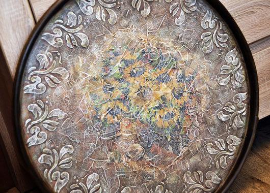 """Картины цветов ручной работы. Ярмарка Мастеров - ручная работа. Купить Панно """"Подсолнухи"""". Handmade. Разноцветный, Картины и панно, подарок"""