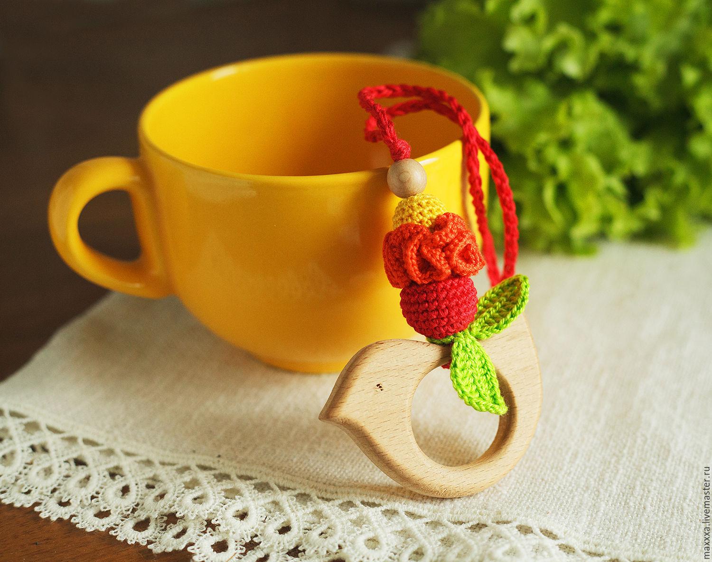 Прорезыватель-грызунок с птичкой позитивно-витаминный, Слингобусы, Рязань, Фото №1