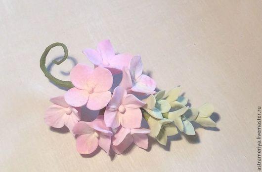 Броши ручной работы. Ярмарка Мастеров - ручная работа. Купить Брошь с цветами из полимерной глины Лето в розовом. Handmade.