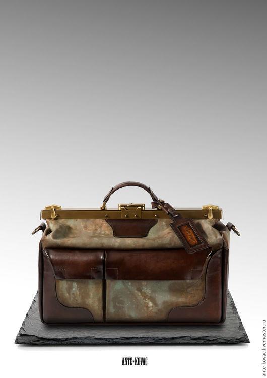 """Мужские сумки ручной работы. Ярмарка Мастеров - ручная работа. Купить Саквояж """"Исследователя"""" 40-45 см. Handmade. Коричневый"""
