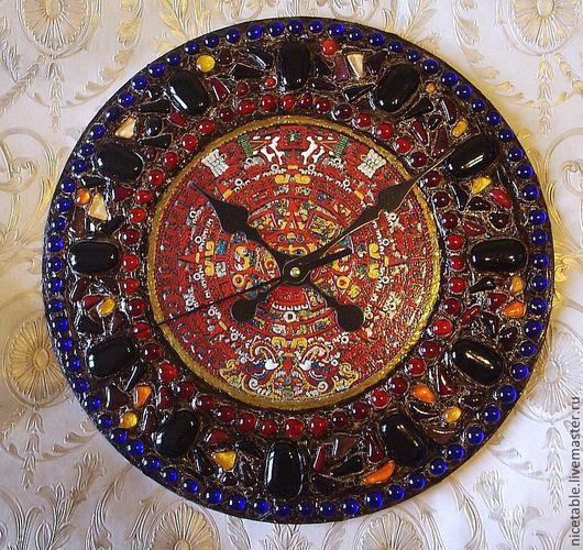 Часы часы настенные подарки ручной работы Майя календарь майя