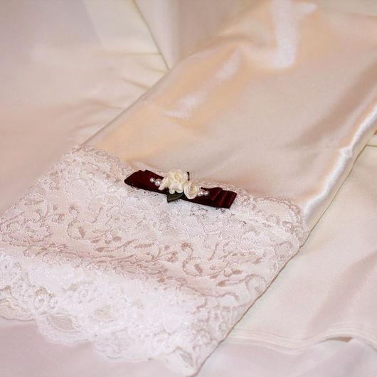 Свадебные аксессуары ручной работы. Ярмарка Мастеров - ручная работа. Купить Рушник свадебный (арт. 0002). Handmade. Бежевый, рушники