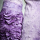 Order Felted dress with long sleeves 'Purple Ombre'. lenabaymut (Baymut). Livemaster. . Dresses Фото №3