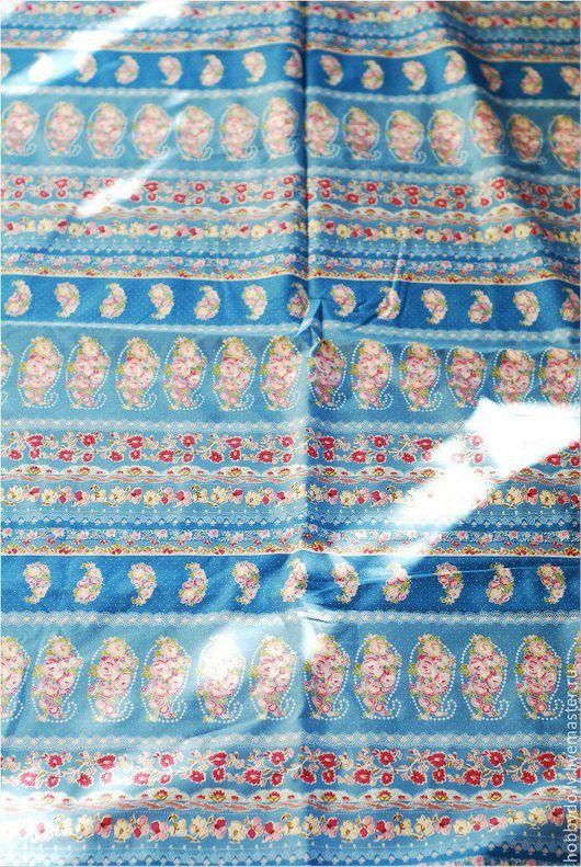 Куклы и игрушки ручной работы. Ярмарка Мастеров - ручная работа. Купить НЕБЕСНЫЕ УЗОРЫ Хлопковая ткань. Handmade. Голубой, цветочки