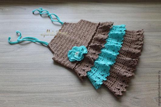 """Одежда для девочек, ручной работы. Ярмарка Мастеров - ручная работа. Купить нарядный сарафан """"Жаклин"""" - авторская работа. Handmade. Разноцветный"""