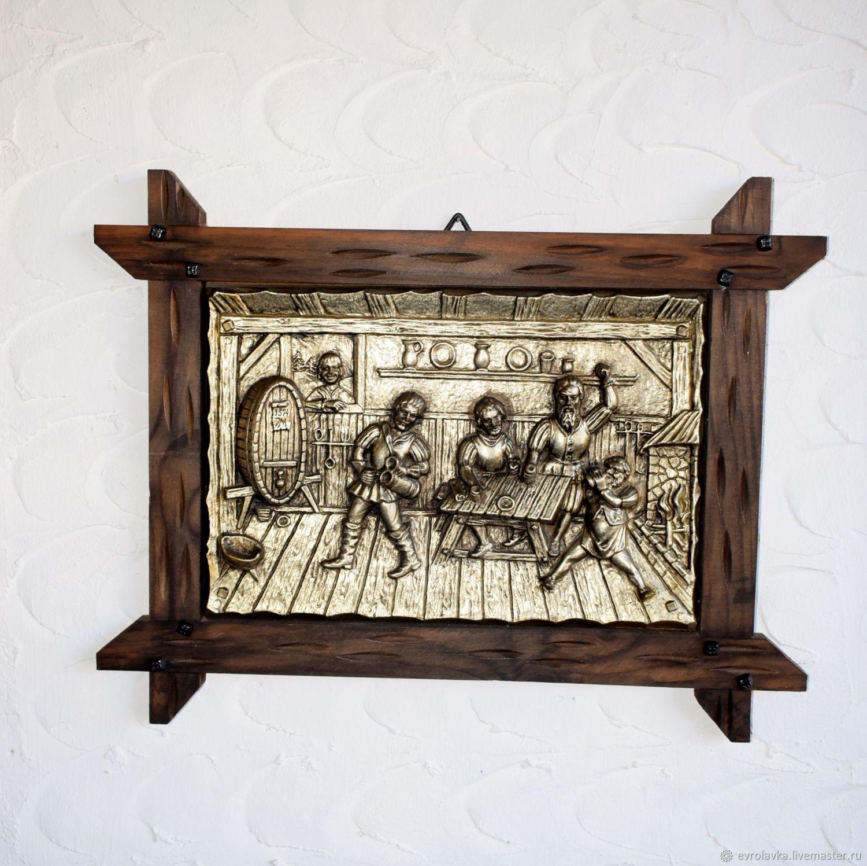 """Винтажное немецкое панно """" Трактир"""", Vintage interior, Trier,  Фото №1"""