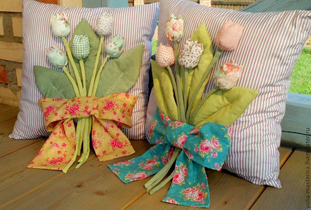 Декоративные подушки своими руками мастер класс