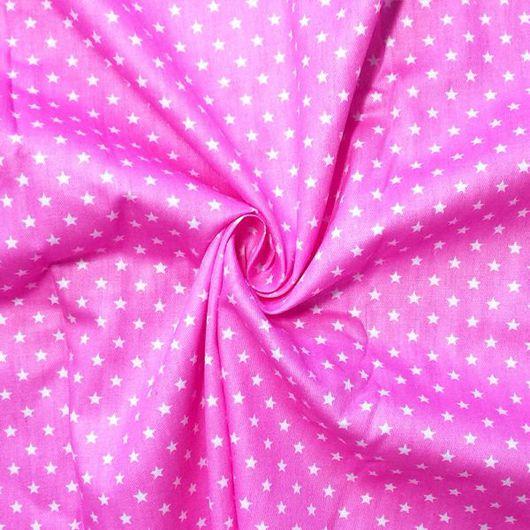 """Шитье ручной работы. Ярмарка Мастеров - ручная работа. Купить Американский хлопок """"Мелкие звезды на розовом"""". Handmade. Хлопок"""