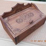 Для дома и интерьера ручной работы. Ярмарка Мастеров - ручная работа лаврушница деревянная резная. Handmade.