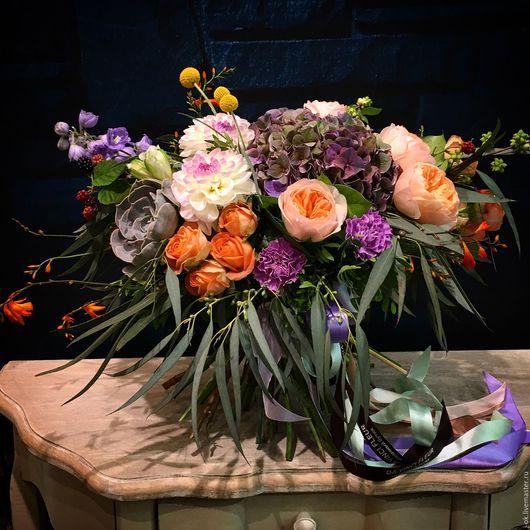 """Букеты ручной работы. Ярмарка Мастеров - ручная работа. Купить Букет цветов """"Осенняя история"""". Handmade. Осень, букет, цветы"""