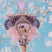 Украшения ручной работы. Ярмарка Мастеров - ручная работа Flora Кулон Art Nouveau в розовом. Handmade.
