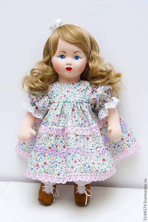 """Коллекционные куклы ручной работы. Ярмарка Мастеров - ручная работа. Купить Кукла текстильная """"Винтаж"""". Handmade. Бледно-розовый, винтаж"""