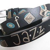 Аксессуары handmade. Livemaster - original item MORE JAZZ belt leather. Handmade.
