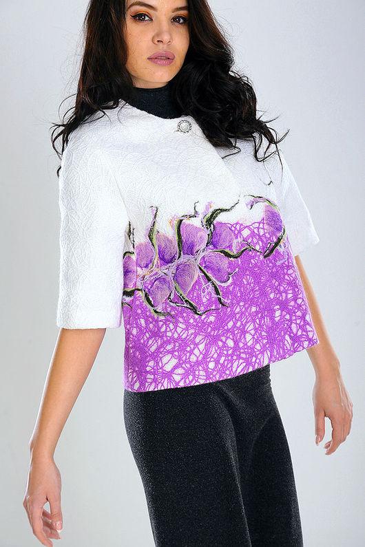 Верхняя одежда ручной работы. Ярмарка Мастеров - ручная работа. Купить ППК 13. Handmade. Цветочный, модное пальто