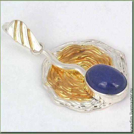 Кулоны, подвески ручной работы. Ярмарка Мастеров - ручная работа. Купить Кулон серебряный с танзанитом. Handmade. Комбинированный, кулон серебряный
