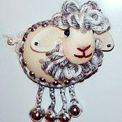 Подарки к праздникам ручной работы. Ярмарка Мастеров - ручная работа Много овечек, хороших и разных. магнит на холодильник. Handmade.