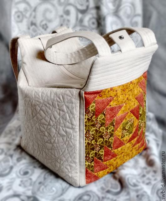 Женские сумки ручной работы. Ярмарка Мастеров - ручная работа. Купить Сумка в стиле кантри. Handmade. Бежевый, пэчворк