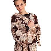 Одежда ручной работы. Ярмарка Мастеров - ручная работа Жакет из шерсти и мохера  Капуччино. Handmade.