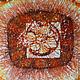 Абстракция ручной работы. Картина Масленица, выполненная на шелке в технике горячего батика. Мария. Интернет-магазин Ярмарка Мастеров. Бордовый