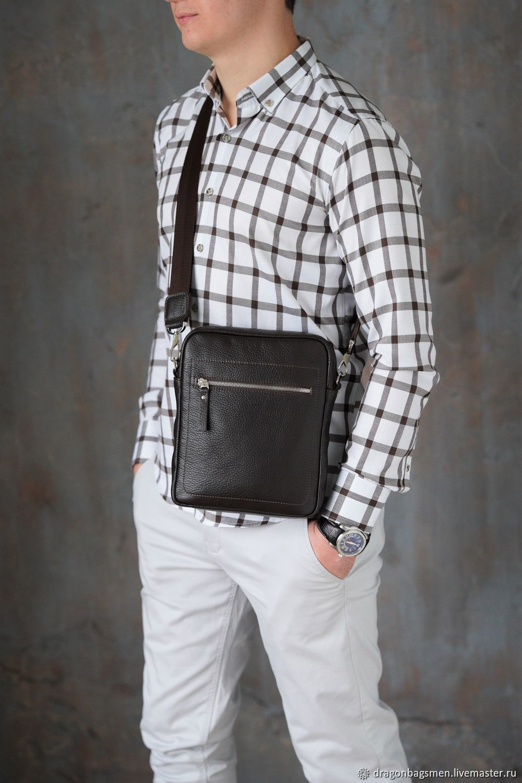 Men's shoulder bag 'Baxter' (Dark brown), Men\'s bag, Yaroslavl,  Фото №1