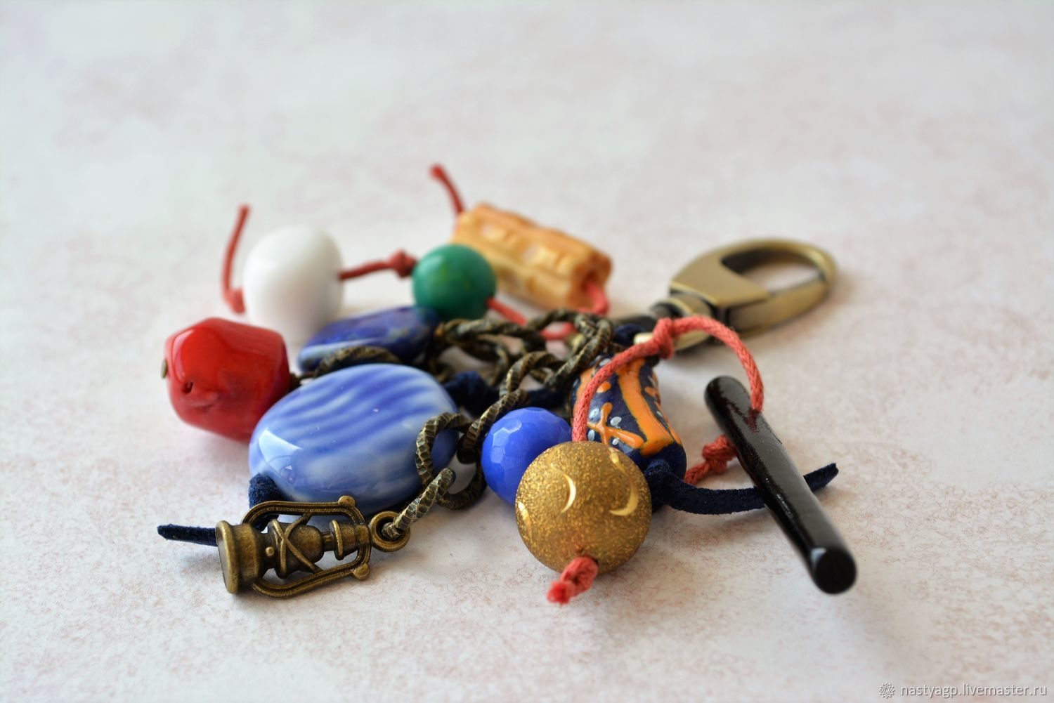 Keychain for keys, bag or backpack Bright summer, Key chain, Moscow,  Фото №1