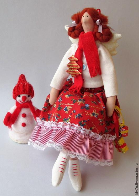 Куклы Тильды ручной работы. Ярмарка Мастеров - ручная работа. Купить Тильда ангел новогодняя. Handmade. Тильда, кукла Тильда