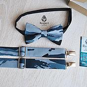 Аксессуары handmade. Livemaster - original item Bow tie and suspenders Military/ buy men`s bow-tie and suspenders. Handmade.