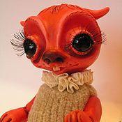 Куклы и игрушки ручной работы. Ярмарка Мастеров - ручная работа Красный монстрик-обаяшка. Handmade.