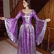 Одежда ручной работы. Ярмарка Мастеров - ручная работа Фиолетовое эльфийское платье.. Handmade.