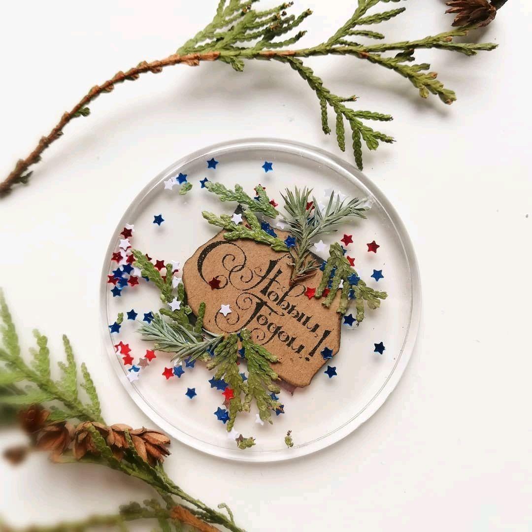 Поздравительный магнит с натуральными цветами и травами, Магниты, Калининград,  Фото №1