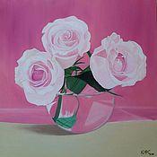 """Картины ручной работы. Ярмарка Мастеров - ручная работа Картина """"Розовая симфонии"""". Handmade."""