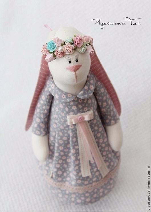 Куклы Тильды ручной работы. Ярмарка Мастеров - ручная работа. Купить Зайка тильда Весна - мягкая игрушка. Handmade. Сиреневый