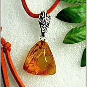 Украшения handmade. Livemaster - original item amber. Pendant