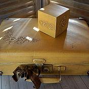 Для дома и интерьера ручной работы. Ярмарка Мастеров - ручная работа Желтый чемоданчик. Handmade.