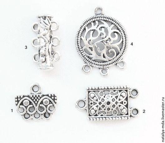 Для украшений ручной работы. Ярмарка Мастеров - ручная работа. Купить Коннектор античное серебро C -3. Handmade. Серебряный